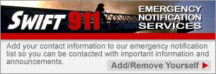 Sign up for Emergency Notificatiion System - Swift911